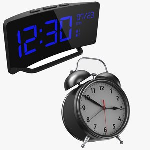 3D real alarm clocks