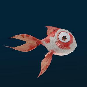 3D fish funy character