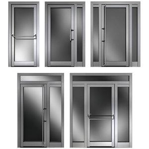 metal swing doors 3D