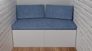 3D sofa walls model