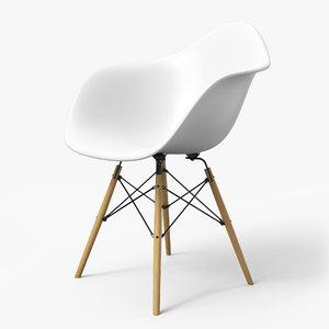 modern armchair 3D