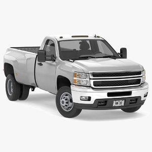 3D model dually pickup truck