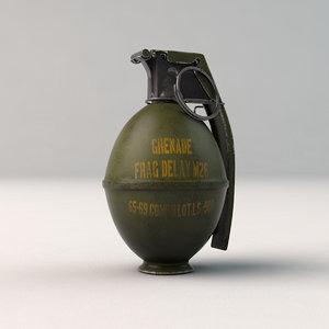 grenade bomb 3D model