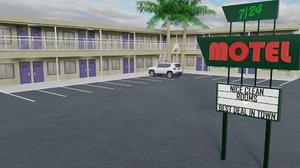 3D model motel architecture building