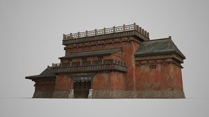 asia ancient architecture 3D model