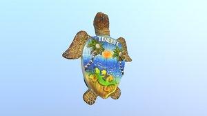 island tenerife spain magnet 3D