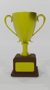 3D trophy award