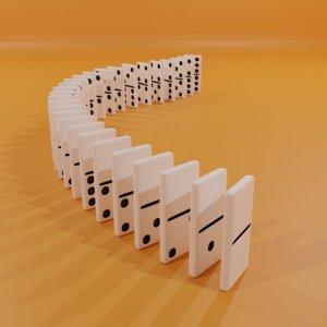 3D dominoes hobby model