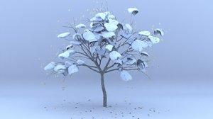 plum winter hight 3D model