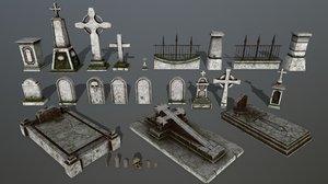 skull tombstone 3D