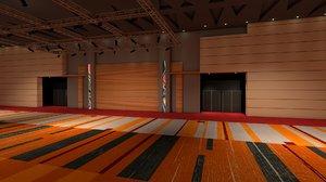 convention center room interior 3D model