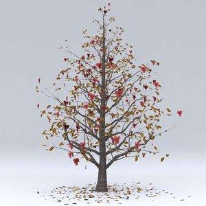 3D magnolia autumn hight