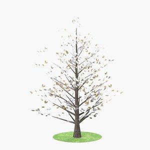 3D magnolia winter