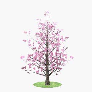 magnolia flowers 3D model