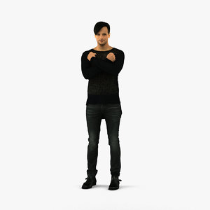 scanned human 3D model