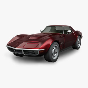 3D model chevrolet corvette stingray 1970