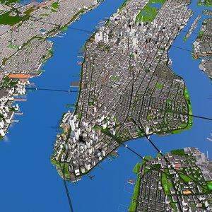 3D city building hospital clinic model