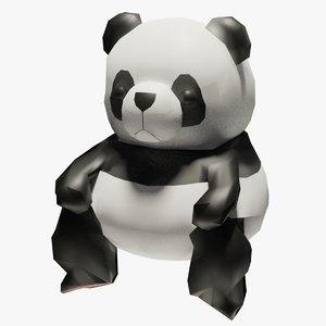 cartoon panda bear polys 3D model