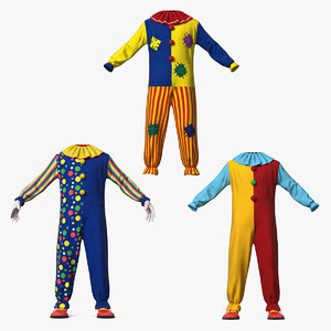 clown costumes 3D model