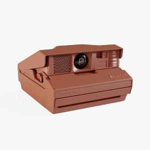3D model classic polaroid camera