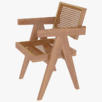 Cassina Jeanneret Capitol Complex Office Wooden Chair