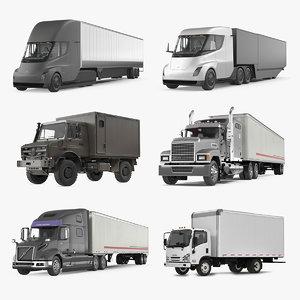 cargo trucks 2 3D model