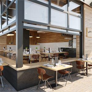 3D coffee shop elephant grounds