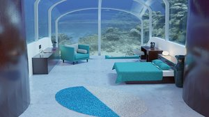 3D underwater water room