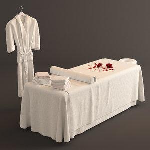spa bed massage 3D model