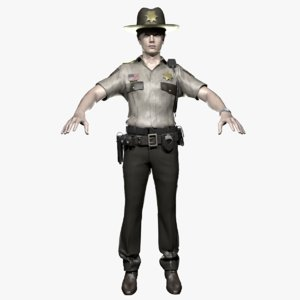 3D sheriff model