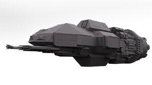 3D model free spaceship