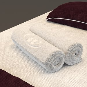 spa bed massage table 3D model