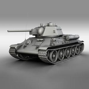 3D t-34-76 - 1943 factory model