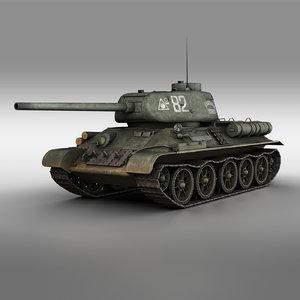 t-34 85 - 3D model