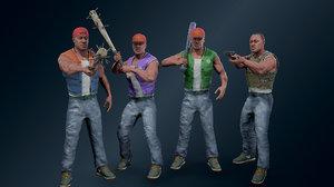 3D modern character 2 model