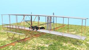 3D wright flyer kitty hawk model