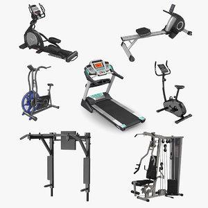 exercise equipment 3 3D model