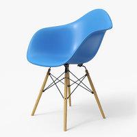 Modern Armchair Eames Light Blue