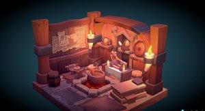 3D viking room