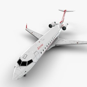 georgian airways bombardier crj 3D model