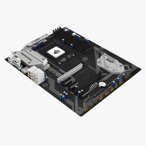 3D generic computer motherboard model