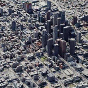 angeles downtown l city 3D model