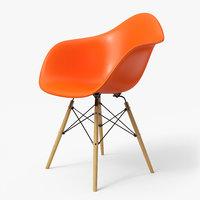 Modern Armchair Eames Orange
