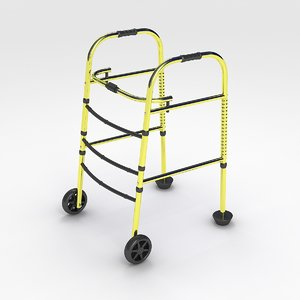 3D model wheeled walker