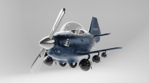 3D aircraft airplane vehicle