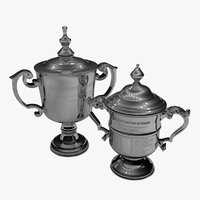 US Open Women and Men 2020 singles trophies L925