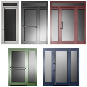 metal swing doors model