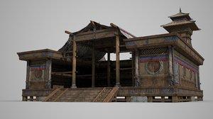 meeting hall ancient 3D model