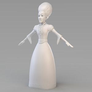 old princess 3D model