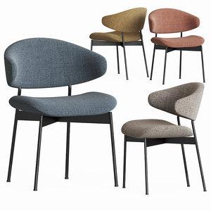 luz dining chair moebel 3D model